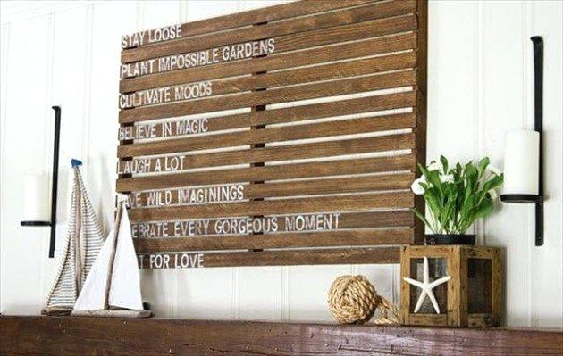 Wood Pallet Wall Decor Fantastic Pallets Wall Art Ideas Photo Pertaining To Pallet Wall Art (View 6 of 10)