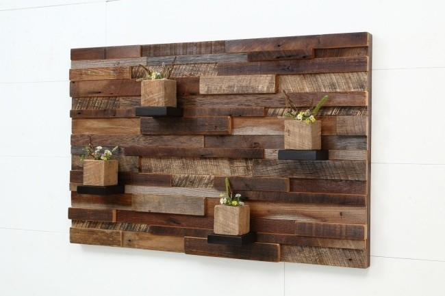Wood Pallet Wall Decor Reclaimed Wooden Pallet Wall Art Recycled Inside Pallet Wall Art (Image 9 of 10)