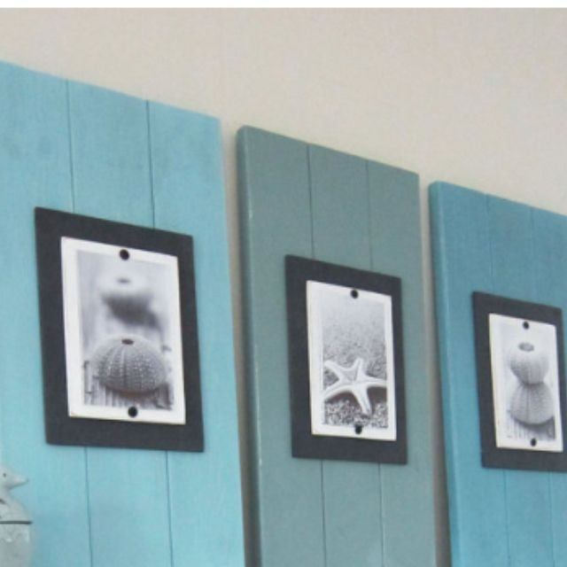 Wood Plank Wall Art Beach Decor! | For The Home | Pinterest | Wood For Plank Wall Art (Image 15 of 20)