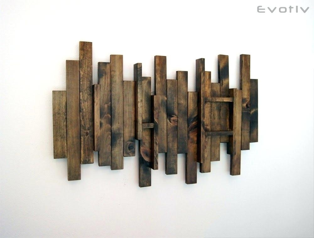 Wood Plank Wall Decor Wood Planks Paint Wall Decor Cool Idea Stain For Plank Wall Art (Image 17 of 20)