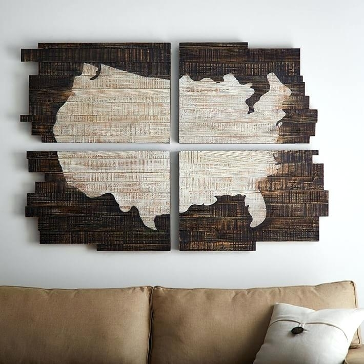 Wood Plank Wall Decor Wood Wall Planks Wood Wall Paneling Vintage Within Plank Wall Art (Image 18 of 20)