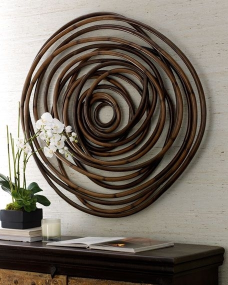 Wood Swirl Wall Decor | Pinterest | Bamboo Wall, Rounding And Woods With Regard To Circle Wall Art (View 17 of 25)