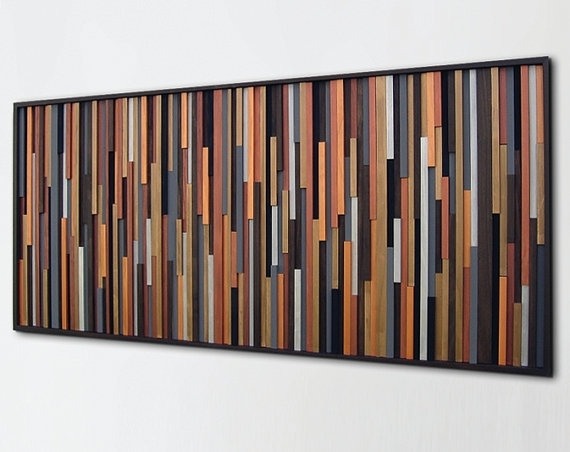 Wood Wall Art Sculpture, Wall Art On Wood, Painted Wood Art, Modern Pertaining To Wood Art Wall (View 19 of 20)