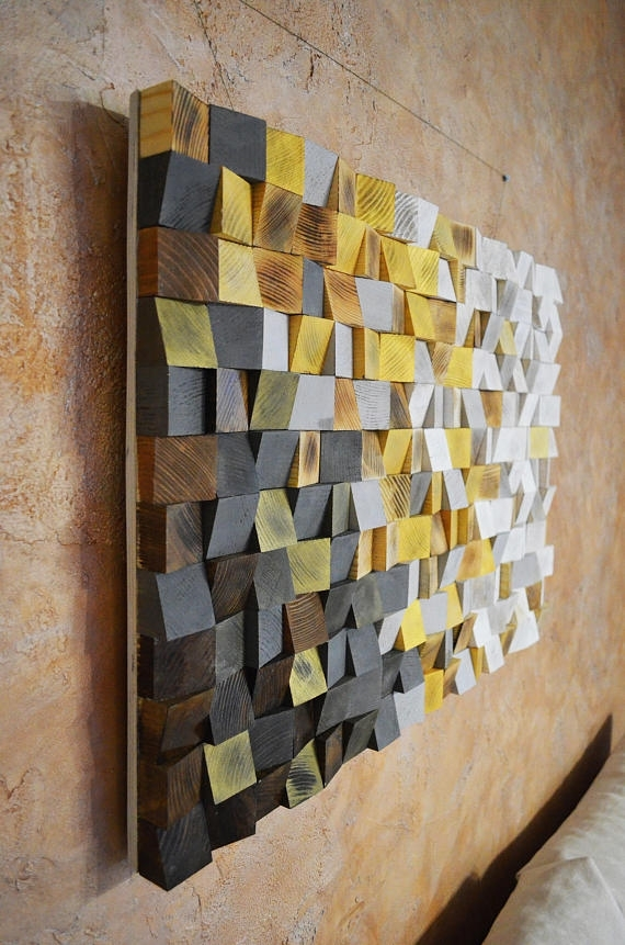 Wood Wall Art – Winter Is Coming, Reclaimed Wood Art, 3 D Wall Art Regarding 3 Dimensional Wall Art (View 8 of 20)