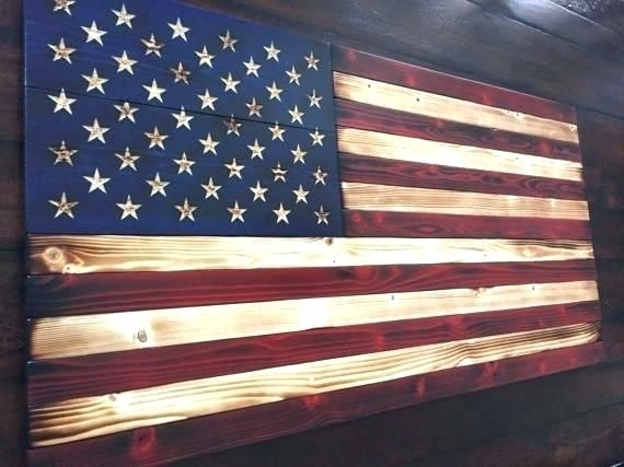 Wooden American Flag Wall Art Cool Wooden Flag Decor Old Glory Throughout Rustic American Flag Wall Art (Image 24 of 25)