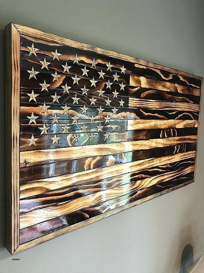 Wooden American Flag Wall Art Large Wooden Flag Wall Art Inside Wooden American Flag Wall Art (Image 18 of 25)
