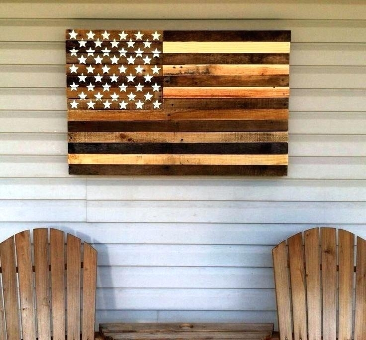 Wooden American Flag Wall Art Pallet Projects That Will Make You Within Wooden American Flag Wall Art (Image 19 of 25)