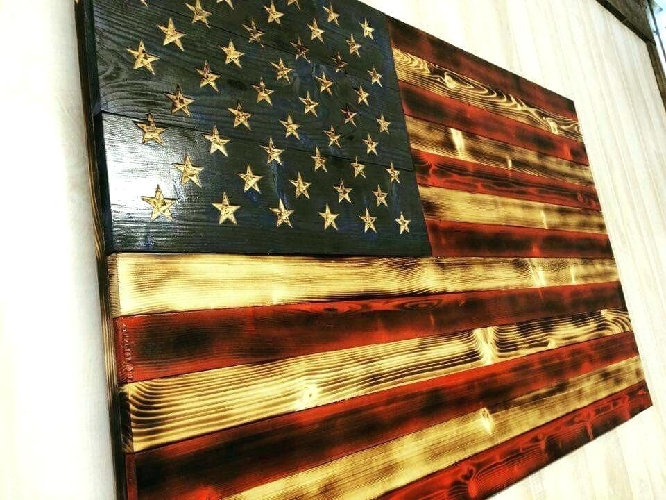 Wooden American Flag Wall Art – Payges (Image 14 of 25)