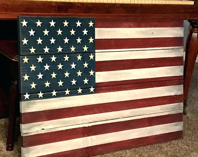 Wooden American Flag Wall Art Rustic Flag Wall Art Wood In Throughout Rustic American Flag Wall Art (View 14 of 25)