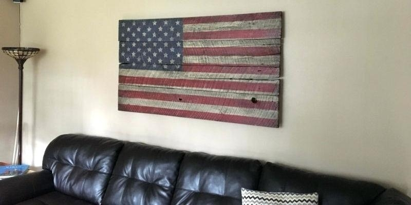 Wooden American Flag Wall Art Rustic Vintage Wood Flags Patriotism In Vintage American Flag Wall Art (View 23 of 25)
