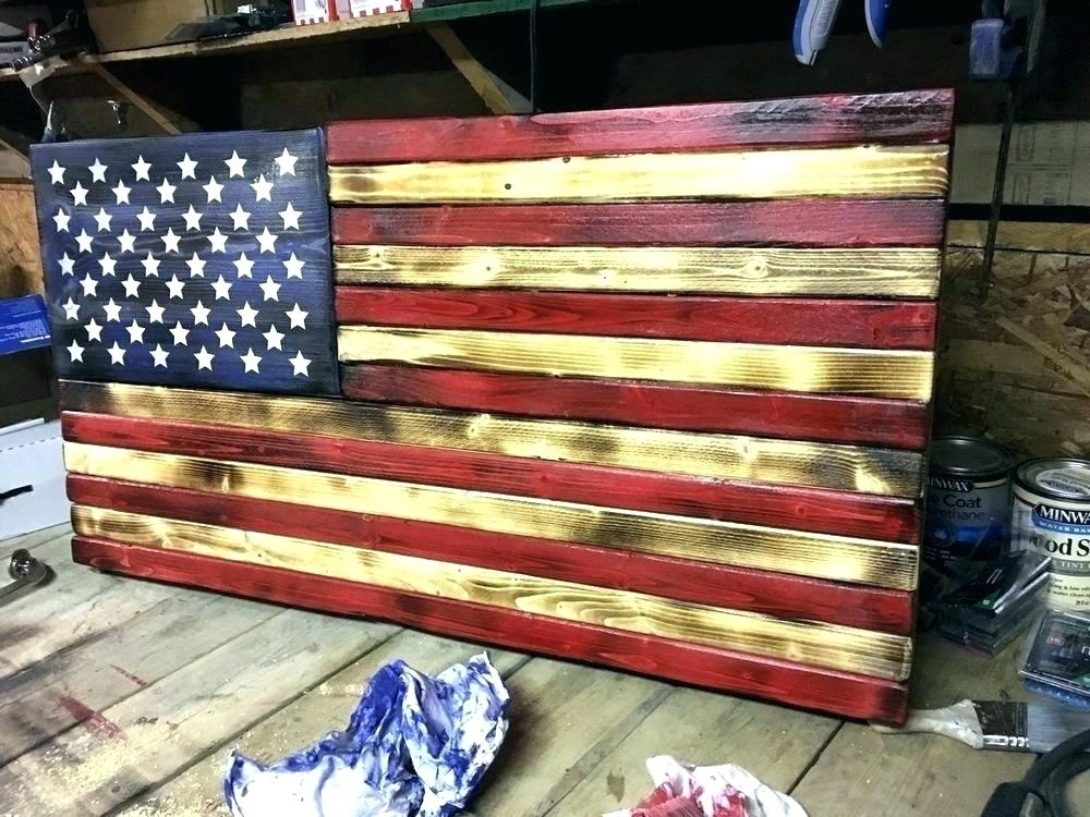 Wooden American Flag Wall Hanging Awesome Wooden Flag Wall Hanging Throughout Wooden American Flag Wall Art (Image 22 of 25)