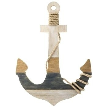 Wooden Anchor Wall Art Anchor Shaped Wood Wall Decor With A Wrapped Pertaining To Anchor Wall Art (View 21 of 25)