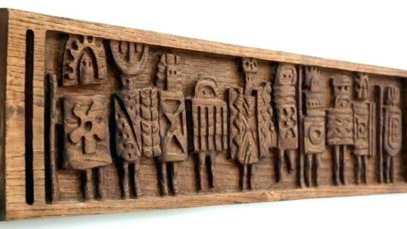 Wooden Carved Wall Hangings Wall Carved Wood Carved Wall Art Crafty Intended For Wood Carved Wall Art (Image 25 of 25)