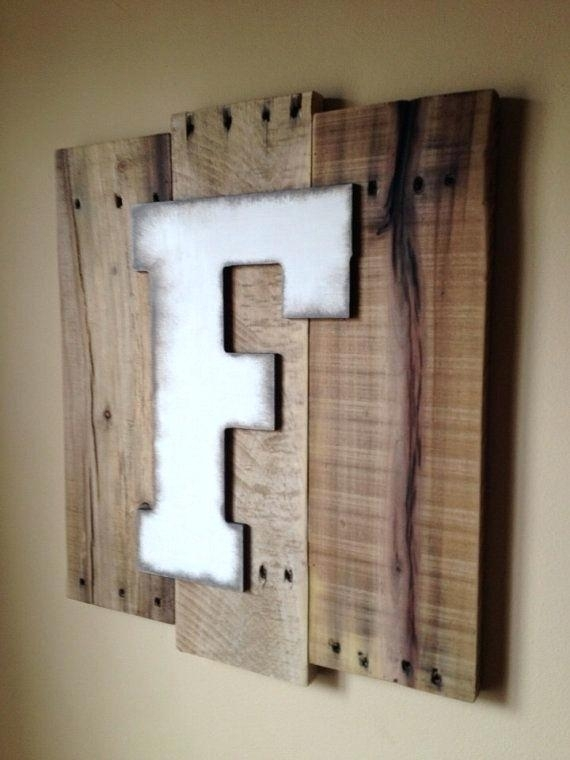 Wooden Initial Wall Decor Wooden Letter Wall Decor The Most Best F Within Letter Wall Art (Image 24 of 25)
