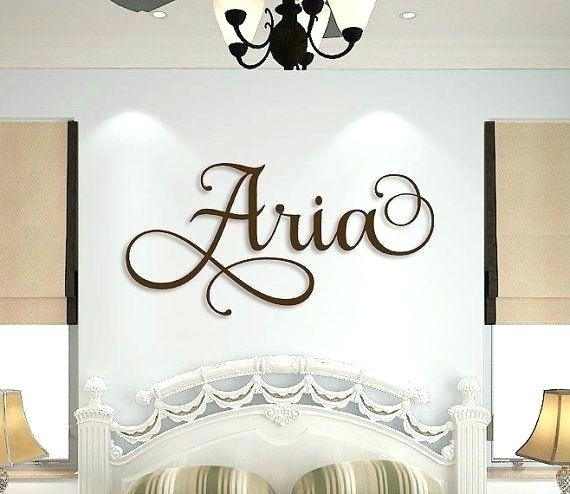 Wooden Initial Wall Decor Wrought Iron Initials Wall Decor Stunning Pertaining To Monogram Wall Art (Image 25 of 25)