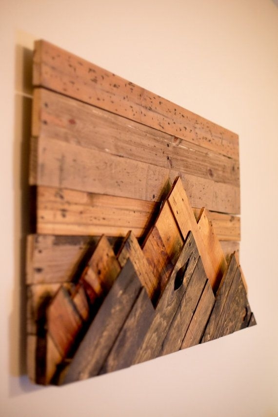 Wooden Mountain Range Wall Art | Decoration | Pinterest | Mountain With Wooden Wall Art (Image 10 of 10)