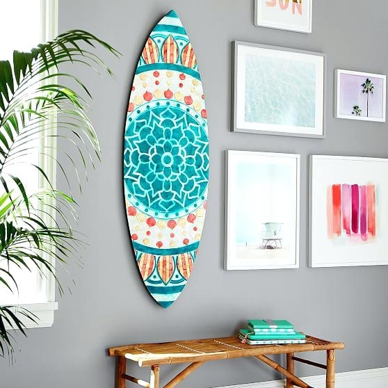 Wooden Surfboard Wall Art Australia Surf Decor Throughout Plans 1 Inside Surfboard Wall Art (Image 25 of 25)