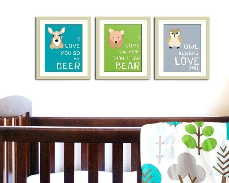 Woodland Nursery Art Best Ideas About Woodland Animal Nursery On In Woodland Nursery Wall Art (Image 14 of 25)