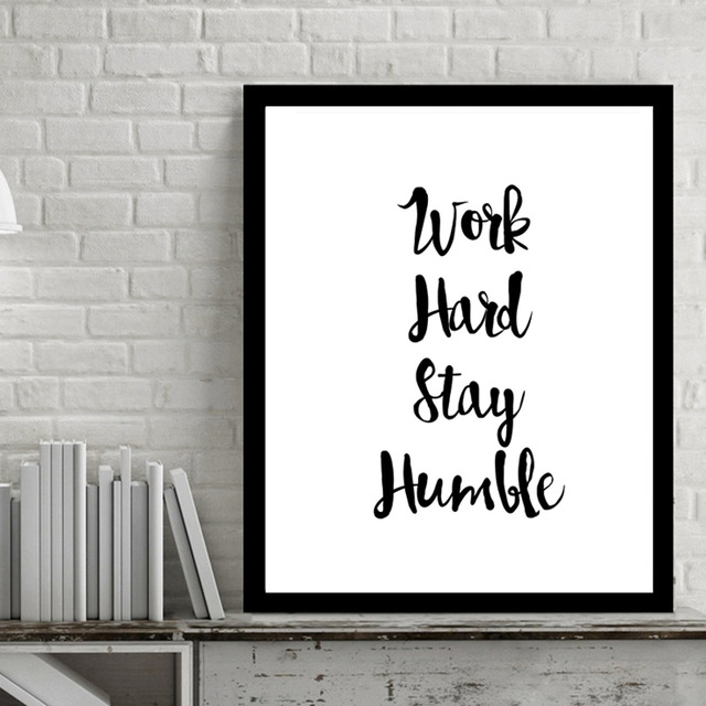 Work Hard Inspiring Quotes Wall Art Digital Poster Canvas Art Oil In Inspirational Quotes Wall Art (View 3 of 25)