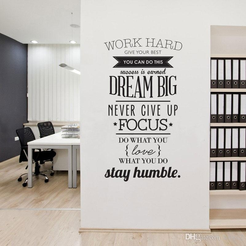 Work Hard Motivation Wall Decals Never Give Up Dream Inspirational With Inspirational Quotes Wall Art (View 15 of 25)