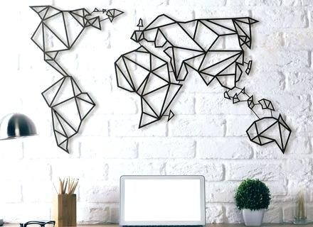 World Map Decoration – New Urban Regarding Wall Art Map Of World (Image 17 of 25)