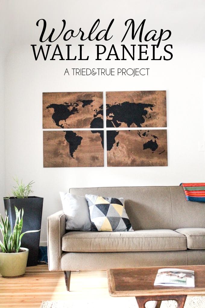 World Map Wall Art Diy – Tried & True In Diy World Map Wall Art (View 13 of 25)