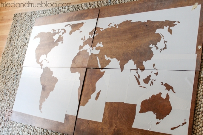 World Map Wall Art Diy – Tried & True Regarding Wall Art Map Of World (Image 18 of 25)