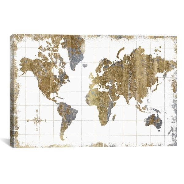 World Map Wall Art Intended For Wall Art Map Of World (View 9 of 25)