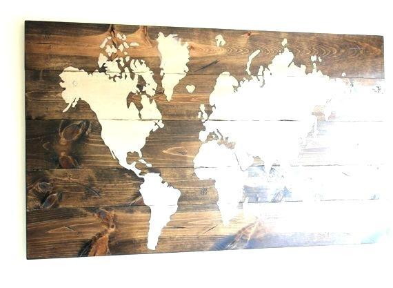 World Map Wood Art Capricious Wood Map Wall Art World My Of Life Pertaining To Wall Art World Map (Image 23 of 25)