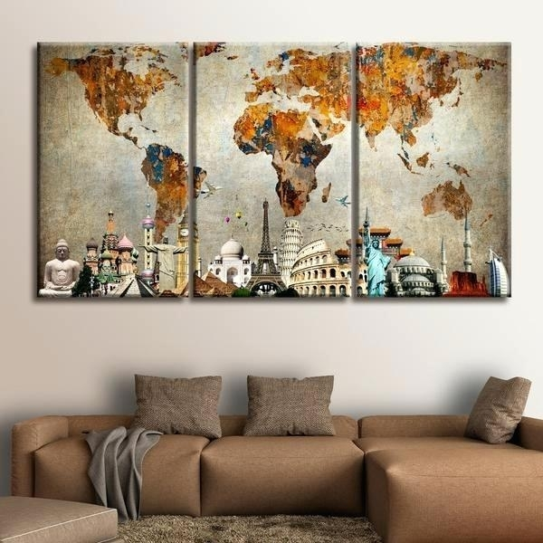 World Wall Art Amazon Com Wood World Map Wall Art Large Reclaimed For World Market Wall Art (View 4 of 25)