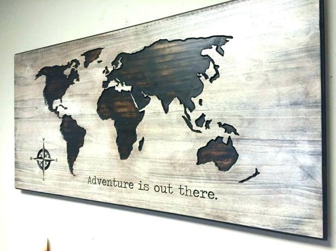 World Wall Art World Map Metal Wall Art Map Of The World Metal Wall Within Wall Art Map Of World (Image 25 of 25)