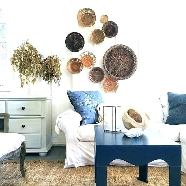 Woven Basket Wall Art Decorative Wall Baskets Decorative Wall Basket With Woven Basket Wall Art (View 21 of 25)