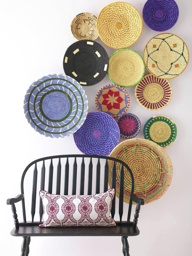 Woven Basket Wall Art Love These Woven Baskets Hung Overlapping On In Woven Basket Wall Art (Image 16 of 25)