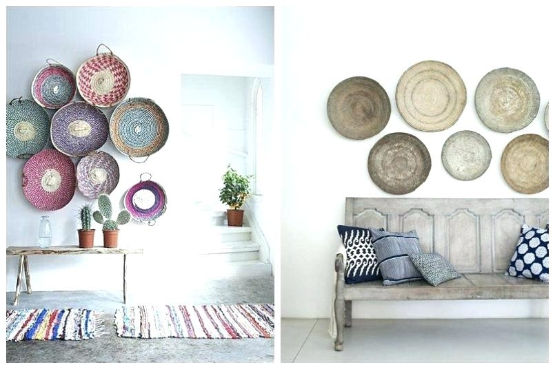 Woven Basket Wall Art Woven Basket Wall Decor Decoration Ideas Regarding Woven Basket Wall Art (Image 21 of 25)