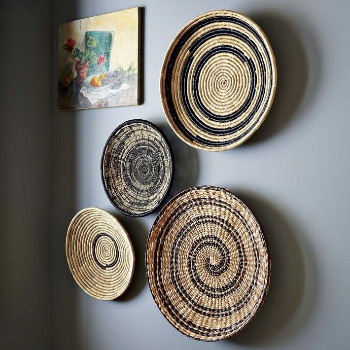 Woven Basket Wall Stunning Wall Decor Baskets – Wall Decoration Ideas With Woven Basket Wall Art (Image 24 of 25)