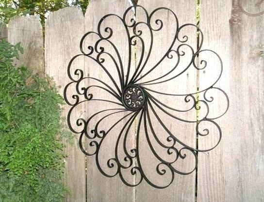 Wrought Iron Outdoor Wall Decor Wall Iron Wall Art Cast Iron Wall For Wrought Iron Wall Art (Image 9 of 10)