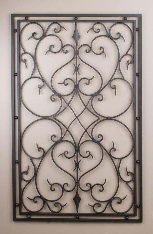 Wrought Iron Spectacular Awesome Wrought Iron Wall Art – Wall Inside Wrought Iron Wall Art (Image 10 of 10)