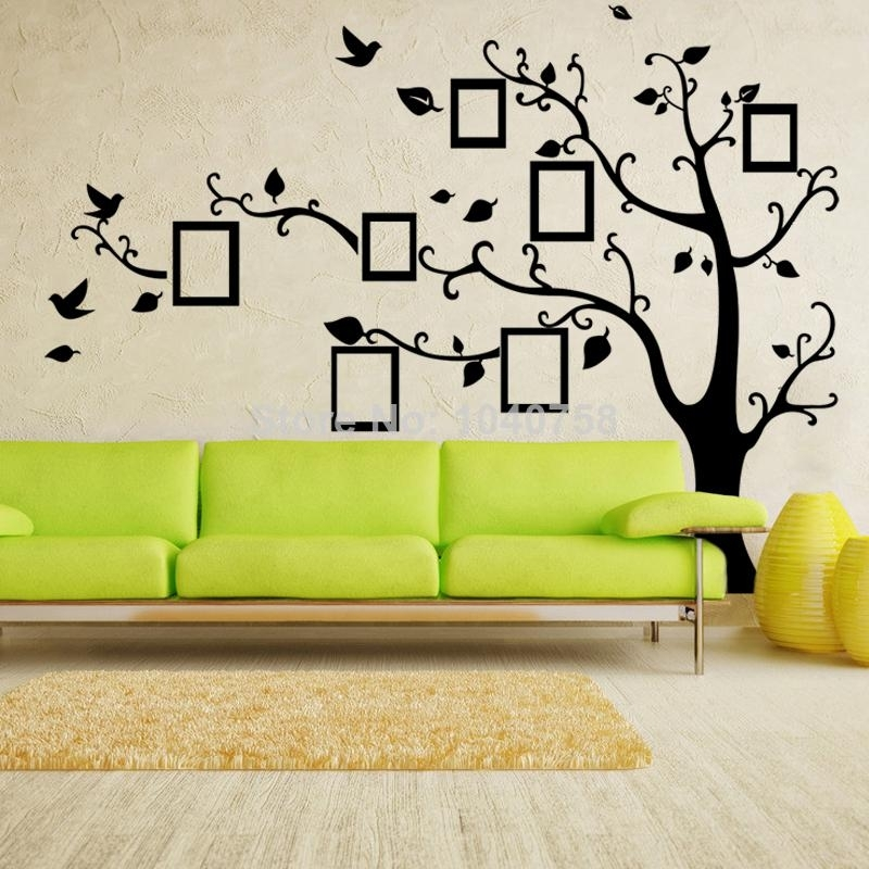 X Large Photo Frame Family Tree Wall Decal Tree Wall Sticker Regarding Family Tree Wall Art (Photo 7 of 10)