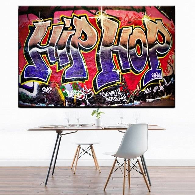 Xdr951 Graffiti Street Art Hip Hop Canvas Wall Art Prints Poster For regarding Hip Hop Wall Art