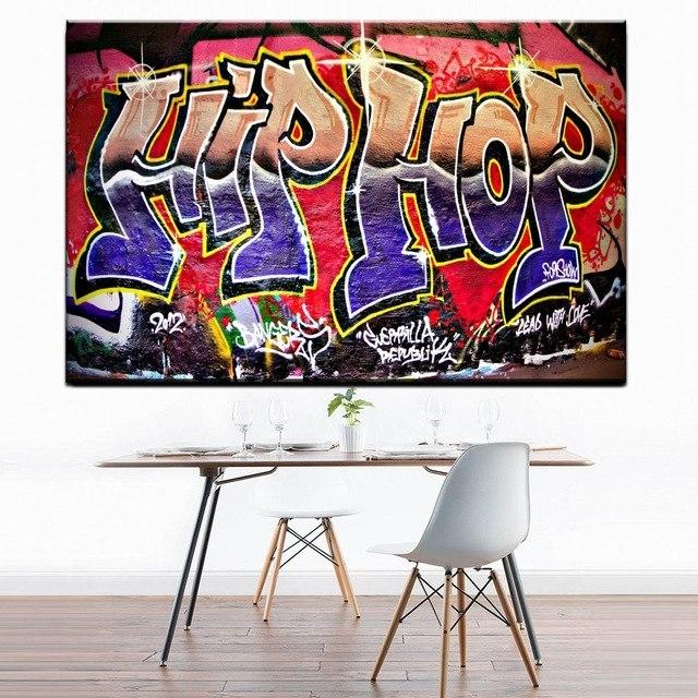 Xdr951 Graffiti Street Art Hip Hop Canvas Wall Art Prints Poster For regarding Hip Hop Wall Art