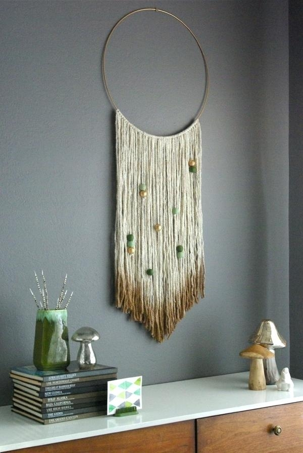 Yarn Wall Art Clever Design Yarn Wall Art Ideas Tree With Hanging for Yarn Wall Art