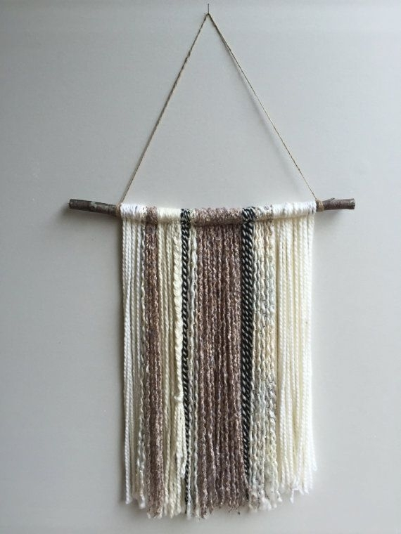 Yarn Wall Hanging. Boho Decor. Yarn Tapestry.bystudiob On Etsy pertaining to Yarn Wall Art