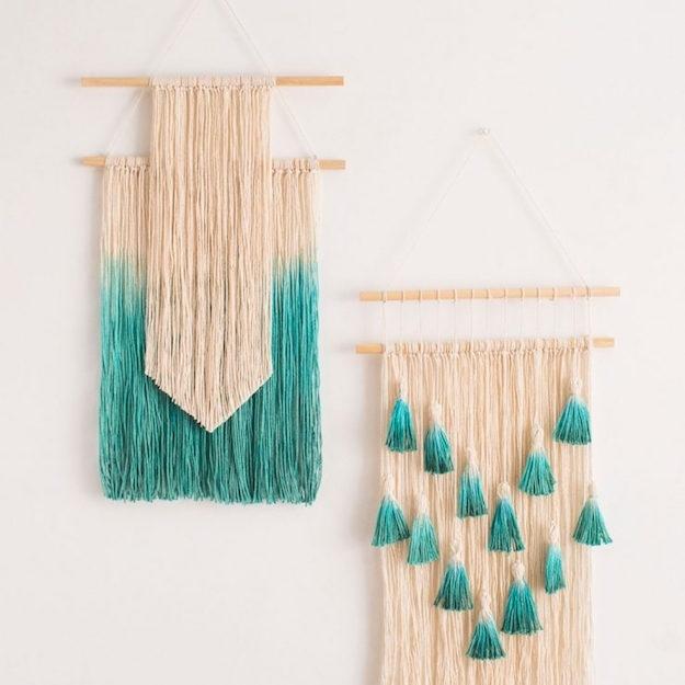 Yarn Wall Hanging Ideas Diy Projects Craft Home - Home Art Decor in Yarn Wall Art