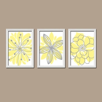 Yellow And Gray Canvas Wall Art | Vineaentertainment Throughout Yellow Wall Art (Image 12 of 20)