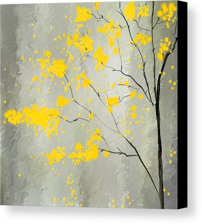 Yellow Foliage Impressionist Canvas Print / Canvas Artlourry With Yellow Wall Art (View 12 of 20)