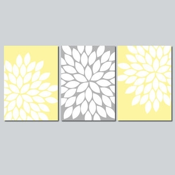 Yellow Gray Wall Art Bedroom Wall Art From Trm Design | Wall Art Within Yellow Wall Art (View 6 of 20)