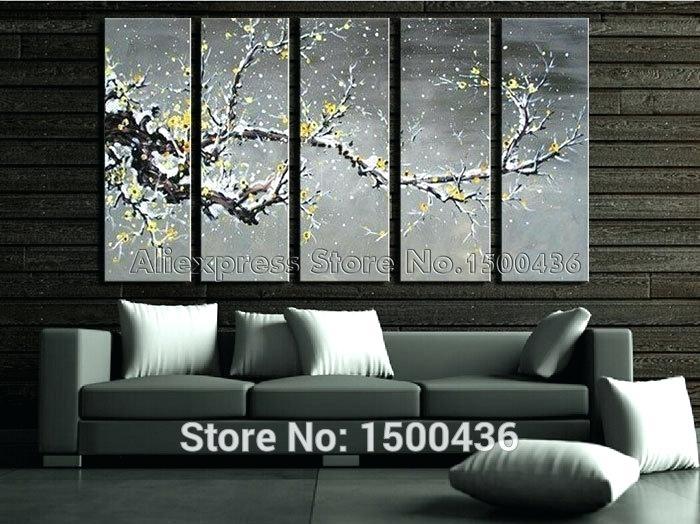 Yellow Gray Wall Art Yellow And Gray Wall Decor Print Art Yellow inside Gray Canvas Wall Art