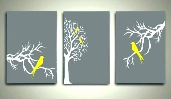 Yellow Grey Wall Art Yellow And Gray Canvas Wall Art Wall Arts Grey For Gray Canvas Wall Art (View 16 of 25)