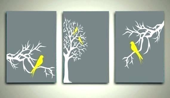 Yellow Grey Wall Art Yellow And Gray Canvas Wall Art Wall Arts Grey for Gray Canvas Wall Art
