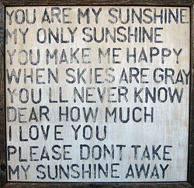 Featured Image of You Are My Sunshine Wall Art
